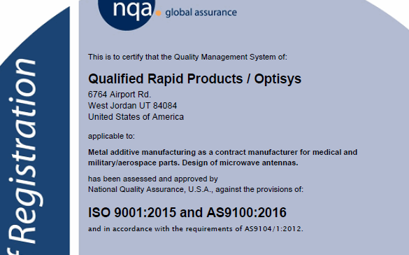 AS9100 Certification - QRP